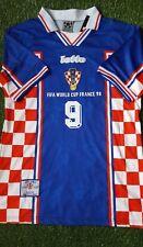 CROATIA RETRO AWAY SHIRT FROM WORLD CUP 98 WITH SUKER 9 PRINT BNWT