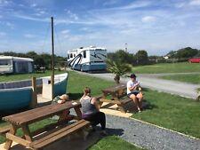 Seasonal Touring Caravan pitches, Western Lake District, Cumbria, Beach, Camping