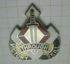 MANEUVER SUPPORT COMMAND / VICTORY THROUGH SKILL  / US ARMY CREST ... Pin (116k)