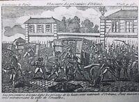 Versailles en 1792 Massacre des Prisonniers d'Orleans Révolution Française