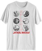 STAR WARS Mens T-Shirt White Size XL Graphic Tee Kanji Printed Crewneck #312