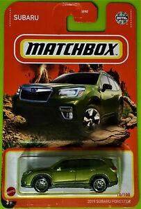 2021 MATCHBOX 10/100 - 2019 SUBARU FORESTER - NEW ON LONG CARD