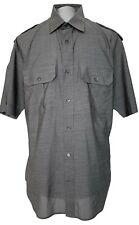 DIOR MEN'S GRAY SHORT SLEEVE DRESS SHIRT, 41, $695