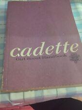 1975 cadette girl scout handbook.