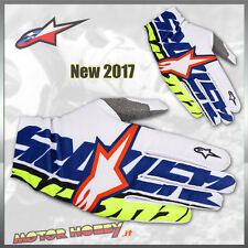 GUANTO CROSS ENDURO ALPINESTARS DUNE GLOVE WHITE DARK BLUE YELLOW FLUO TAGLIA S