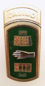 Vintage Casino Lighter Moving Hand Cards Ace