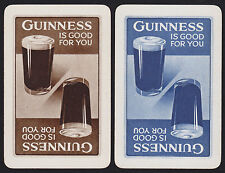 2 Single VINTAGE Swap/Playing Cards ADV Beer/Brewery GUINNESS REVERSIBLE GLASSES