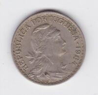 1964 Portugal 1 One Escudo Coin Republica Portuguesa Q-547