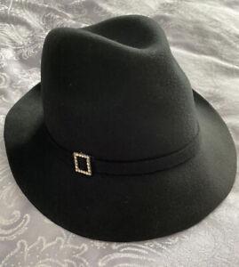 Long Tall Sally Black Felt Trilby Hat - One Size