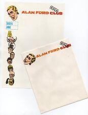 CARTA DA LETTERA intestata ALAN FORD CLUB editoriale corno 1975 1 busta + foglio