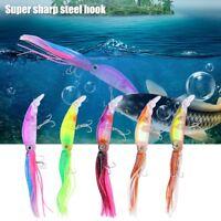 5pcs/set Fishing Squid 18.5cm Hard Plastic Lure Artificial Octopus Steel Hook JJ