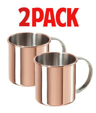 MOSCOW MULE 12 OZ MUGS (2-PACK) stainless steel copper plated ginger beer mug