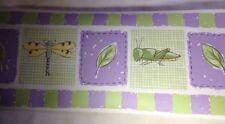 Lot of 4 Waverly Wallpaper Border Pattern #5509170 Nursey Kids Room Purple Green