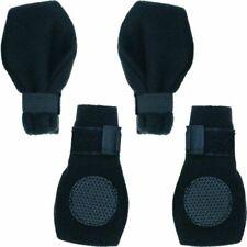 "LM Fahion Pet Arctic Fleece Dog Boots - Black Large (3.75"" Paw)"