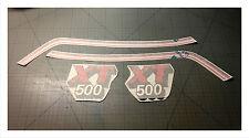 Adesivi tabelle Yamaha XT 500 1981 Kit serbatoio - adesivi/adhesives/stickers
