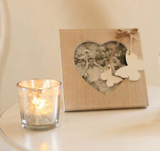 SHABBY Wooden Chic Natural Wood Butterfly Photo Frame