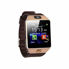 OROLOGIO TELEFONO SMARTWATCH ANDROID IOS CON SIM BLUETOOTH MICRO SD DZ09 MARRON