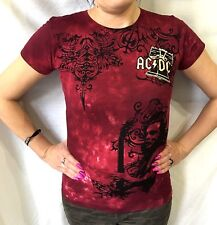 AC/DC - Official Womens T-Shirt (M) OG 2009 New All Over Print TIE DYE 18DM