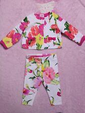Ted Baker Baby Girl floral jacket and leggings bundle set size 6-9 months