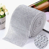 DIAMOND MESH WRAP ROLL CRYSTAL RHINESTONE SPARKLE BLING RIBBON/WEDDING DECOR~