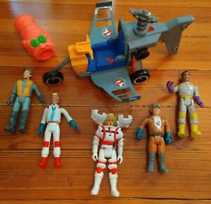 The Real Ghostbusters Lot 1986 Kenner Ecto 2 Helicopter w/6 Figures & Ghost