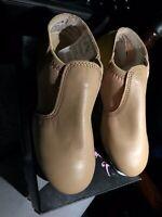 NEW Premium Stretch Revolution Dancewear TAP Shoes Tan Leather #576 1.5AD M