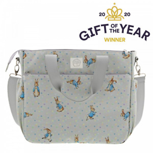 Official Beatrix Potter Peter Rabbit Grey Baby Changing Bag 30cm x 36cm A29581