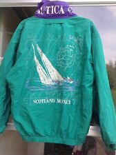 Vintage Nautica Cup Hooded Spellout Sailing Scotland Men's Jacket Medium *Rare*