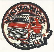 Early FORD 2nd-generation Econoline Vintage Van Sticker Peel and Stick VinVanCo