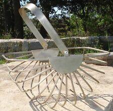 -Panier Moderniste 1950's Metal Basket Design Acier Inoxydable
