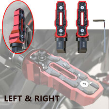 1 Pair Rear Motorcycle Anti-Skid Widened Foot Rest Pedal Motorbike Left & Right