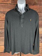 Polo Ralph Lauren~L~Polo Shirt L/S Pima Soft Touch Gray~Logo