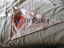 WWII US MARINE CORP  5 TH DIVISION IWO JIMA   CAMPAIGN  BANNER  FLAG