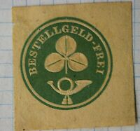 Hannover Germany Local Post Eestellgeld-Frei  1878 Postal Envelope cut square