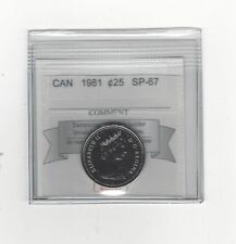 **1981** Coin Mart Graded Canadian,25 Cent, **SP-67**