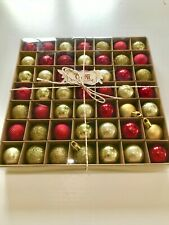Christmas Baubles Valery Madelyn 49pcs 3cm Luxury Red and Gold