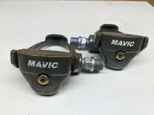Vintage Mavic clipless pedals grey and clean