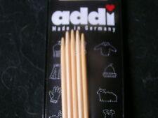"ADDI NATURA Bamboo Double Point 8"" US3 KNITTING NEEDLE"