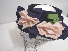 New listing Antique Vintage Hat w/ veil and roses