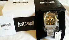 100% Auténtico Just Cavalli Para hombres Reloj de Diseñador de pulpa de acero chronogragh BNWT