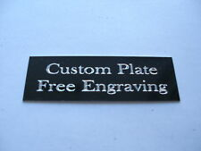 "Engraved Plate trophy Taxidermy 1/2""x1 1/2"" black aluminum"