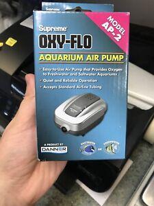 Aqua Supreme AP-2 Aquarium Air Pump 2 Watt Single Outlet Danner Manufacturing