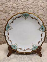 Blakeman & Henderson Limoges Antique Raised Gold Painted Plate