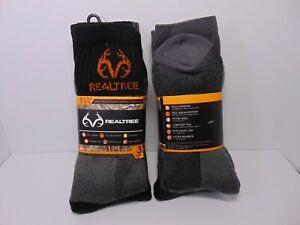 RealTree Heavyweight Thermal Wool Blend Crew Socks 3 pack NWT