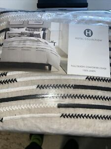 Hotel Collection Global Stripe Full/Queen Duvet Cover