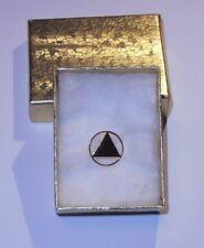 Circle / Triangle symbol Lapel Pin / Tie Tac for Alcoholics Anonymous (NIB)
