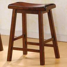 Saddle Seat Counter Height Stool in Chestnut by Coaster 180069 - Set of 2