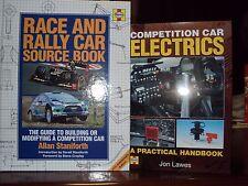 2 x Haynes RILEGATO Race & Rally Auto fonte Books incl concorrenza auto Electrics