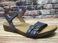 Dansko Rebekah Waxy Burnished Navy Leather Sandal  *6021-755300