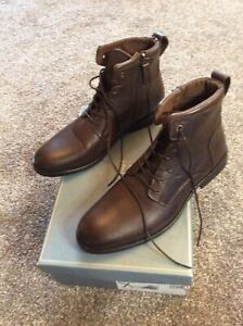 BNIB John Lewis & Partners Men's Kensel Ankle Boots, Brown - Size 7